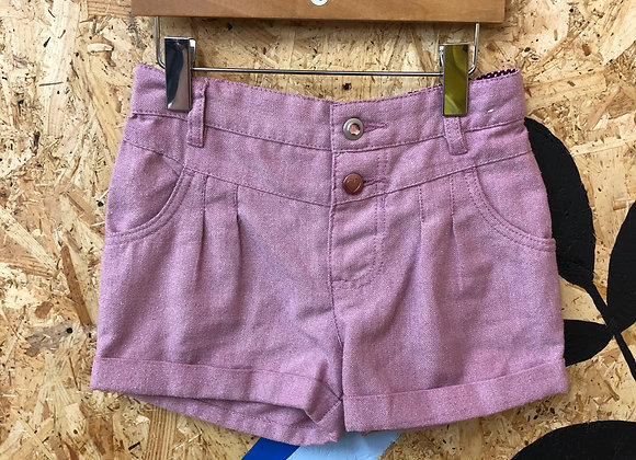 Shorts - Pink with glitter - Age 6