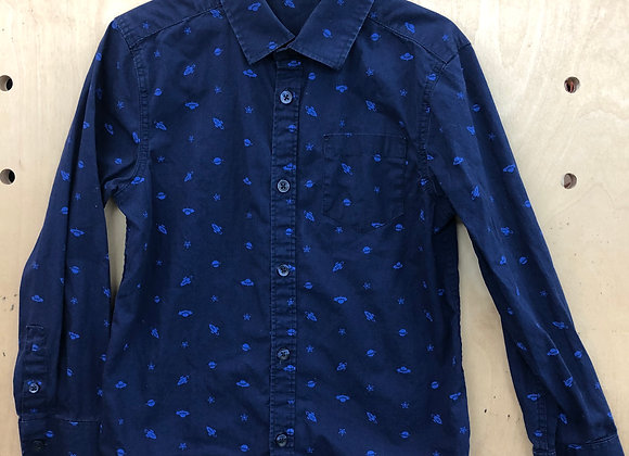 Shirt - Navy Blue Space Pattern - Age 7
