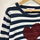 Thumbnail: Jumper -Stripy with sequined heart - Age 6