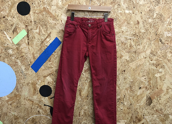 Red Denim Jeans with Check Age 6