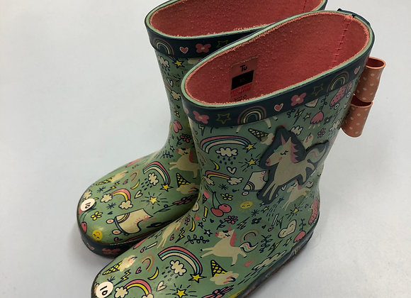 Wellies - Unicorns - Shoe size 10 (jr)