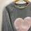 Thumbnail: Jumper - Grey with heart - Age 6