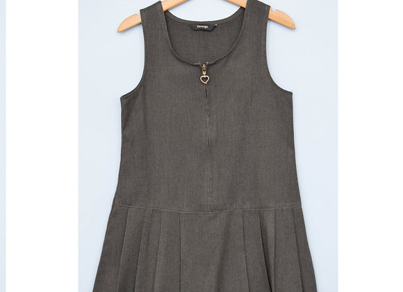 Pinafore - Grey with heart (George)