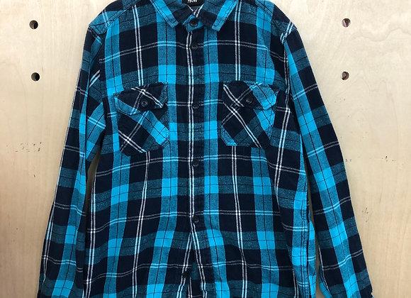 Shirt - Plaid Blue Black - Age 12