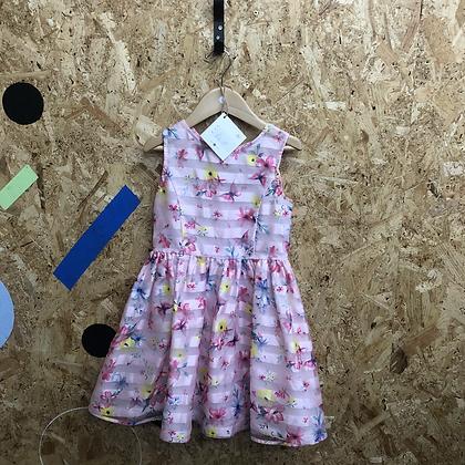 Dress - Floral & stripes - Age 5