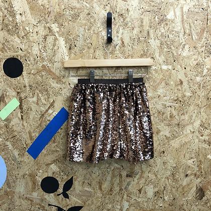 Girls age 9 bronze sequin skirt