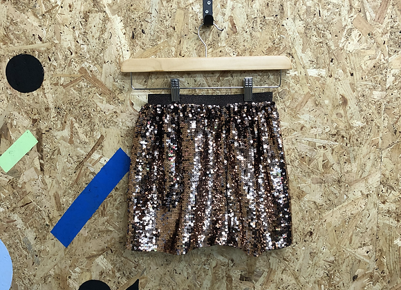 Girls age 9 bronze sequin skirt