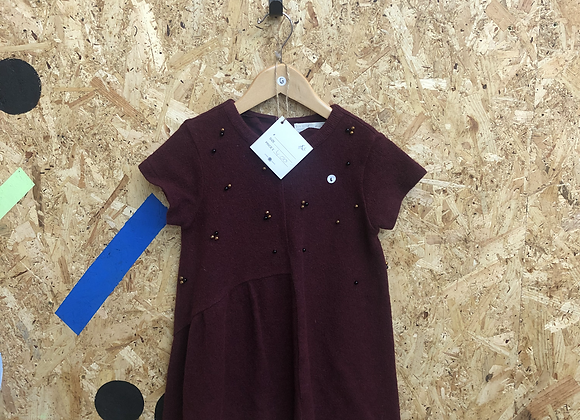 Dress - Burgundy - Age 6