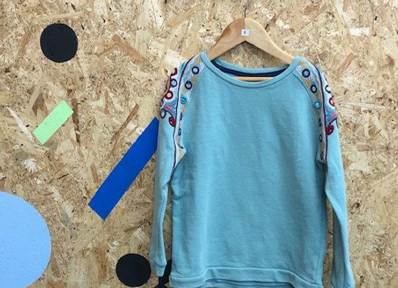 Blue Patterned Sweatshirt - Age 8