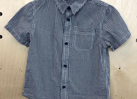 Shirt -  Checked Black White - Age 4