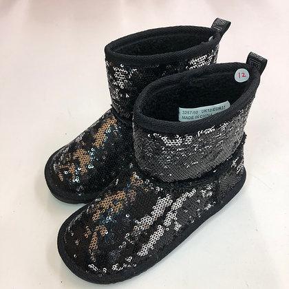 Boots - Black sequins - Shoe size 12 (jr)