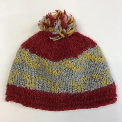 Bobble Hat - Pattern Knit