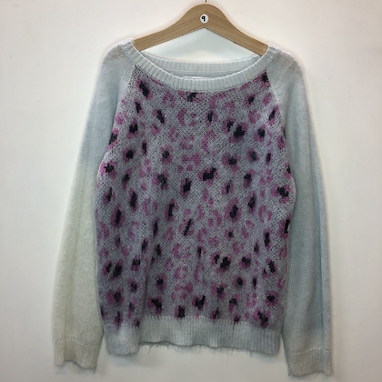 Jumper - Mohair with leopard print - Age 9