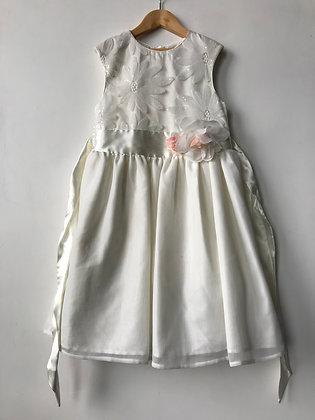 Dress - White - Age 9