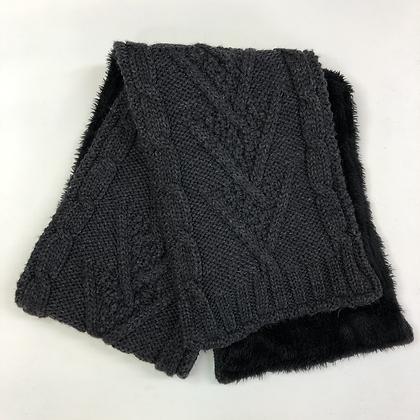 Scarf - Knit & Fur