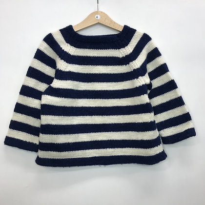 Jumper - Blue & White Stripes - Age 6