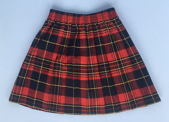Skirt - Tartan with pleats