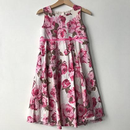 Dress - Pink Floral - Age 4