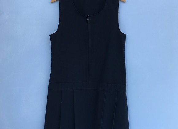 Pinafore - Uniform - Navy with heart zip