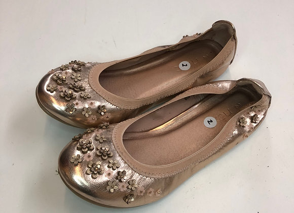 Pumps - Pink gold flowers - Shoe size 2