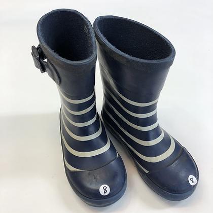Wellies - Stripes - Shoe Size 8 (jr)