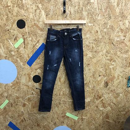Dark Blue Denim Jeans with Fashion Rips Age 7