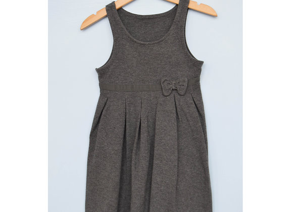 Pinafore - Grey with bow (M&S)