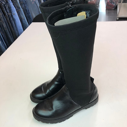 Boots -  Knee high black - Shoe size 3