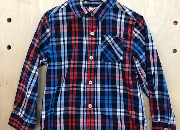 Shirt - Plaid Red Blue - Age 5