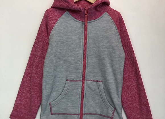 Fleece - Grey with hood - Age 7