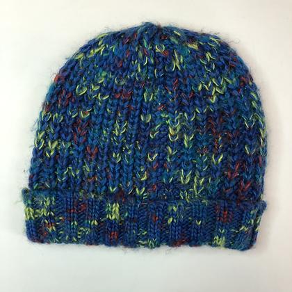 Beanie - Blue Mix Knit