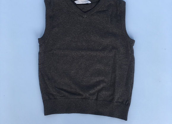 Grey V Neck Sweater Vest