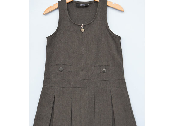 Pinafore - Grey with heart (Next)