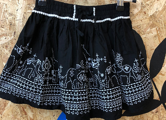 Skirt - Black cotton - Age 6