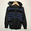 Thumbnail: Hoody - Grey with blue stripes - Age 5