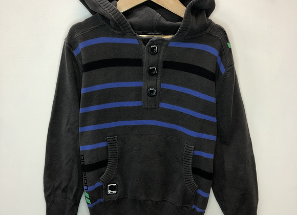 Hoody - Grey with blue stripes - Age 5