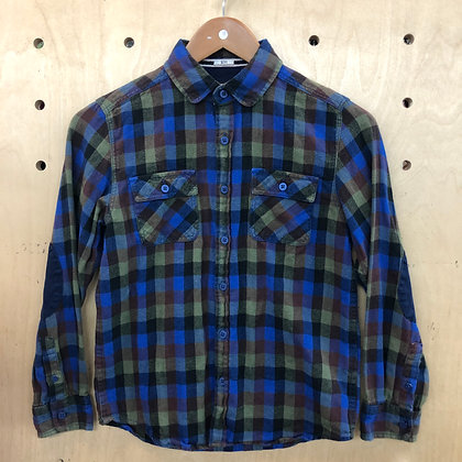 Shirt - Plaid Blue Green - Age 11