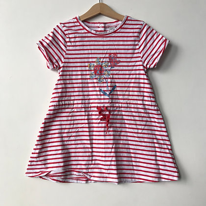 Dress - Red Stripes - Age 5