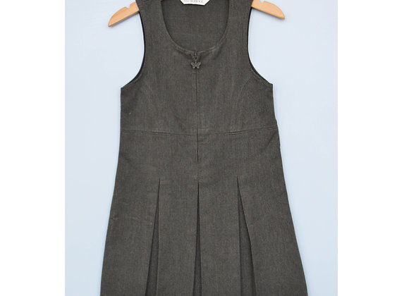 Pinafore - Grey with butterfly