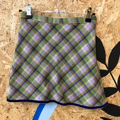Skirt - Wool check - Age 7
