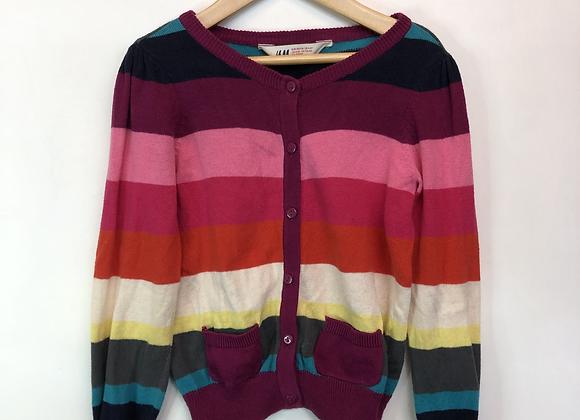 Cardigan - Chunky Stripes - Age 4