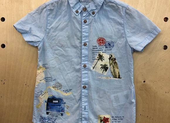 Shirt - Mayoral Blue Travel design - Age 4