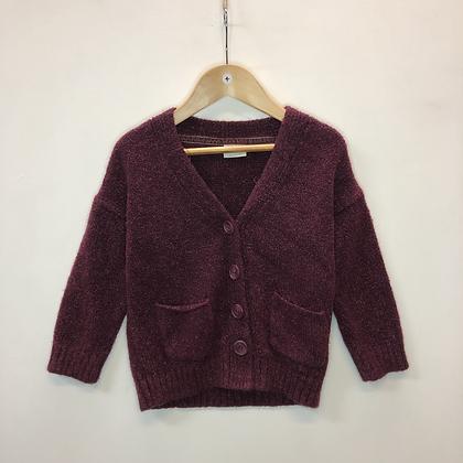 Cardigan - Burgundy knit - Age 4