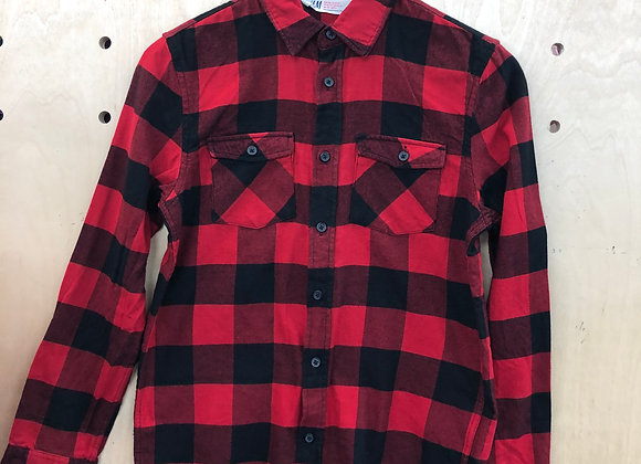 Shirt - Checked Red Black - Age 10
