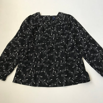 Blouse - Black & Floral Pattern - Age 5