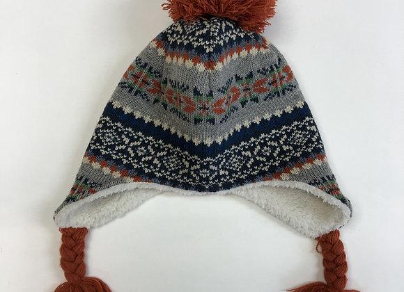 Bobble Hat - Patterned Knit