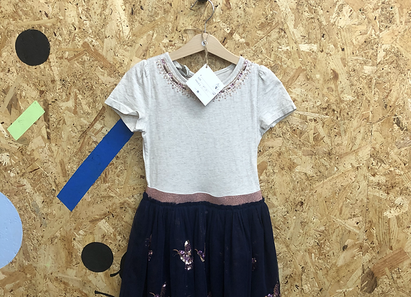 Dress - Jersey with tulle skirt - Age 5