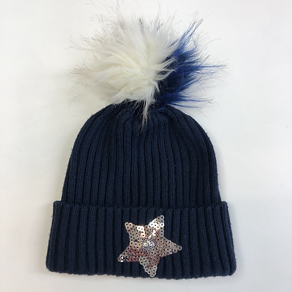 Bobble Hat - Sequin Star