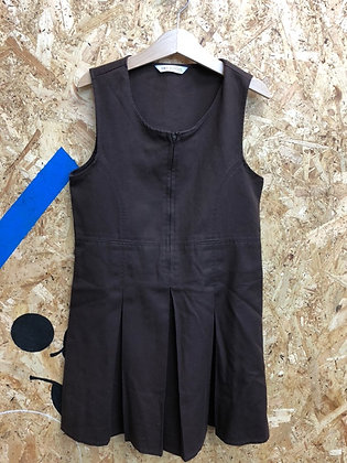 Pinafore - Uniform - Brown with butterfly zip