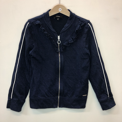 Tracksuit top - Navy with frills - Age 7